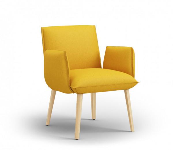 Mobitec Soft H47 +A Esszimmer Sessel modern, Hop Hop Yellow
