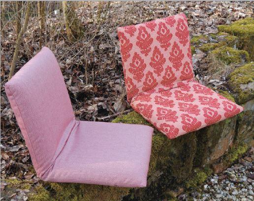 Outdoor Sitzkissen mit Lehne von Bullfrog