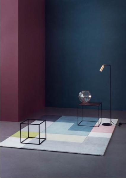 Linie Design Tetris Designteppich Wolle, Ambiente