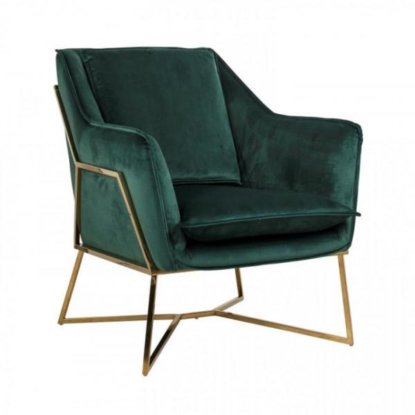 Design Sessel Samt Gold Richmond Aurelia