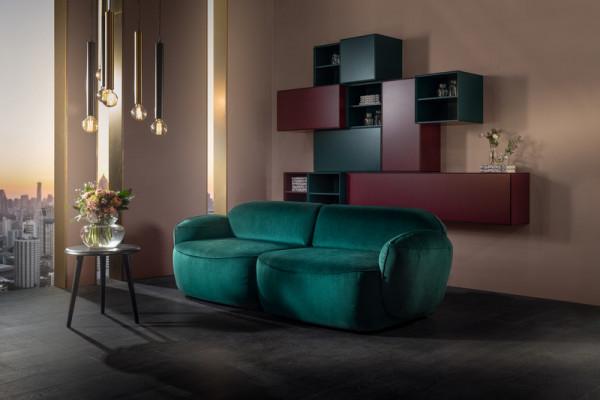 Sofa mit Rundung Bubble von Furninova