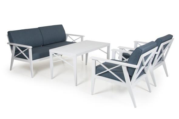 Brafab Sottenville Loungeset Aluminium
