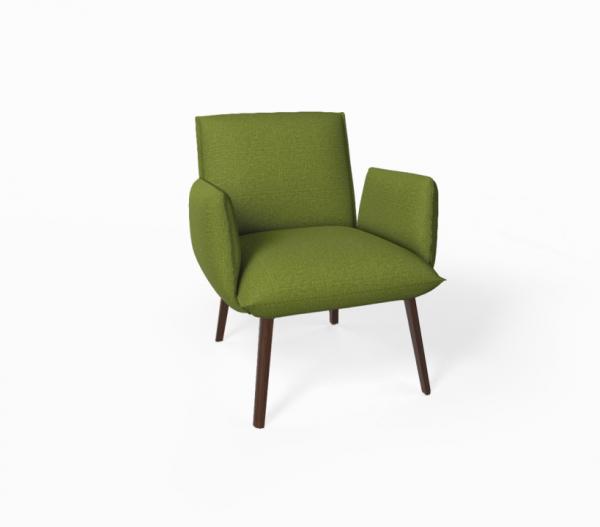 Mobitec Soft H40 +A, Stoff Biarritz Green + Gestell E21 Eiche Nuss Look