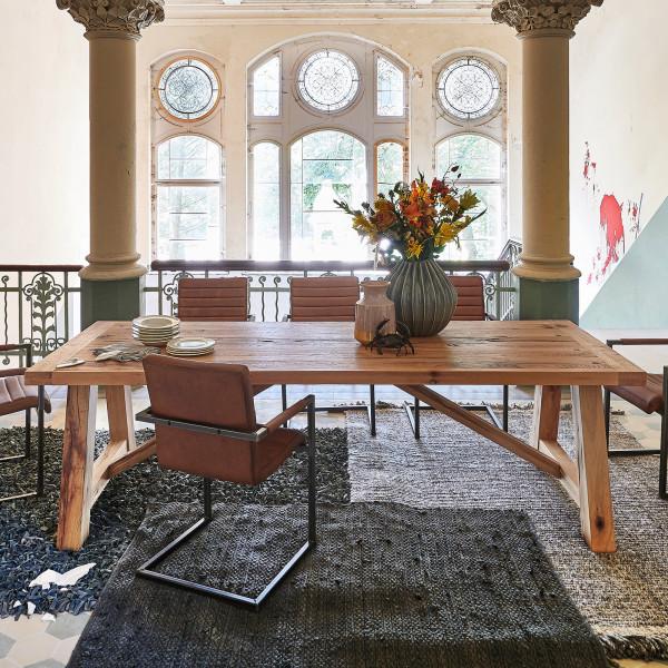 Esstisch Firenze Ausführung Rustic Oak Öl Finish