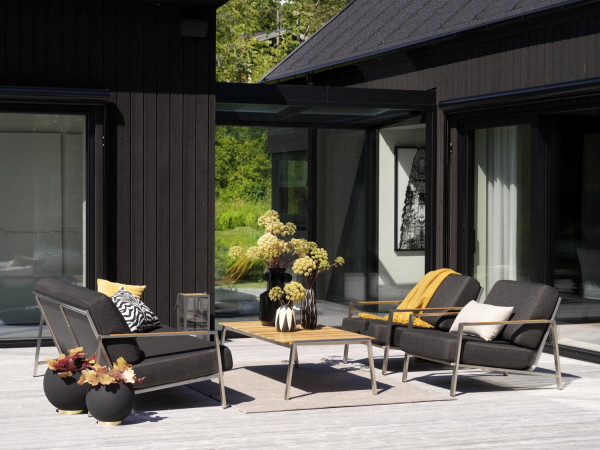 Brafab Naos Garten Sofa mit Sessel, komplette Lounge Gruppe
