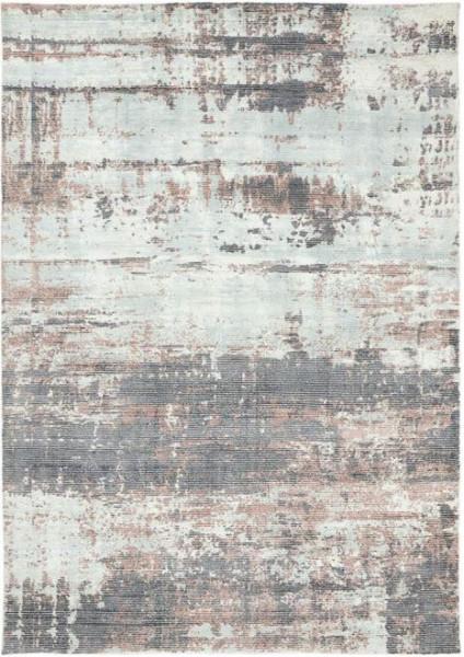 Linie Design Embla abstrakter Teppich modern, Earth