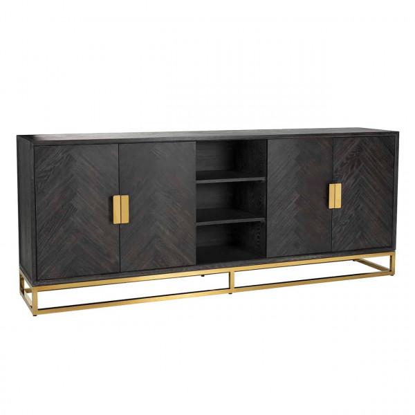 Sideboard schwarz mit Gold Blackbone