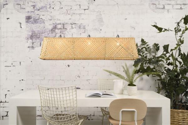 Bambus Lampe geflochten Romi Komodo Nature